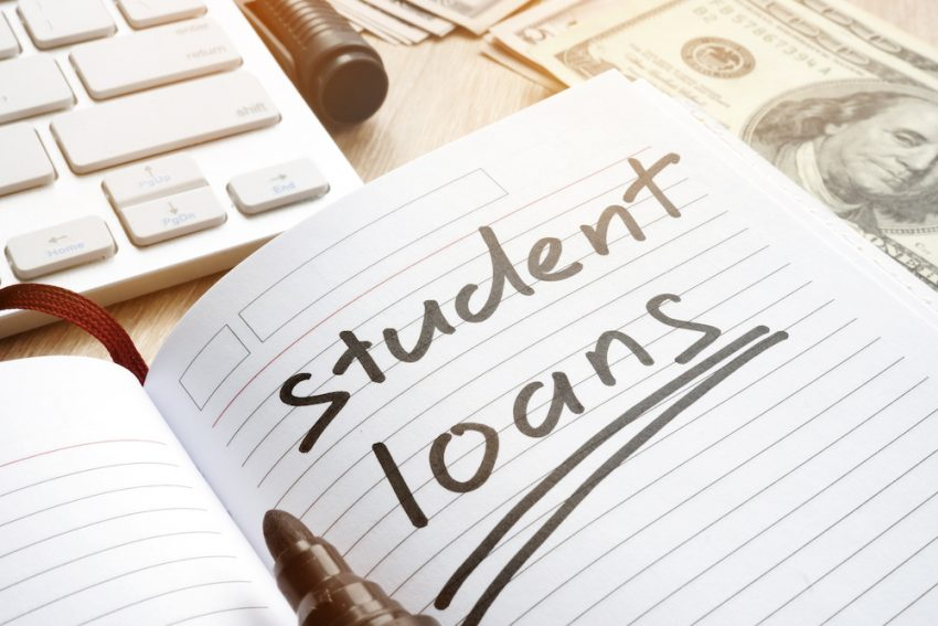 what is the average student loan debt monthly payment